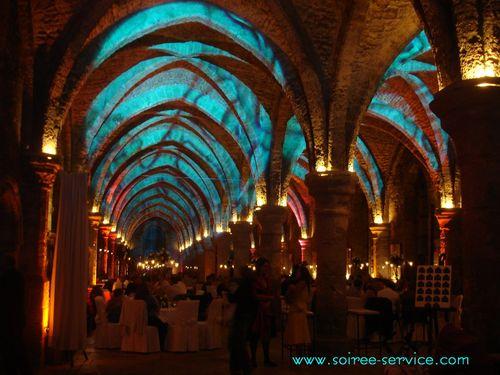 Salle des moines mise en lumière