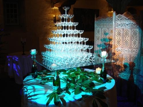 Fontaine Champagne éclairage